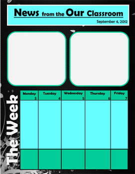 FREE: Newsletter Template with Black and Teal Colors
