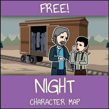 FREE Night Character Map Worksheet