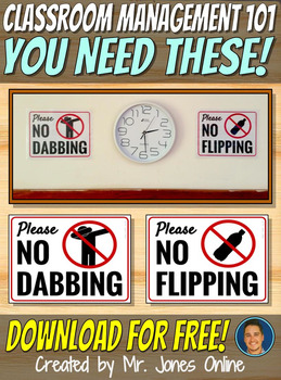 FREE No Dabbing & No Bottle Flipping Posters