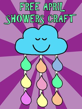 FREE No Prep April Shower Craft and Writing Pages