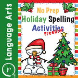 FREE No Prep Christmas Spelling Activities