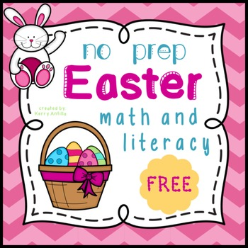 *FREE* No Prep Easter Math and Literacy