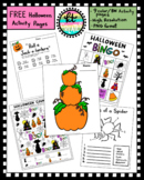 No Prep Halloween Activity Worksheets Bundle-set of 9 BW/color