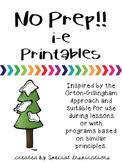 FREE! No Prep! i-e Printables Orton-Gillingham Inspired