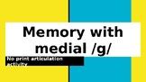 FREE No print/ No prep - medial /g/ activity - Teletherapy