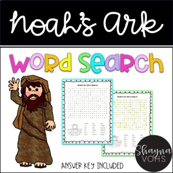 FREE Noah's Ark Bible Word Search