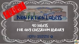Nonfiction Labels (Chalkboard background) - FREEBIE!!