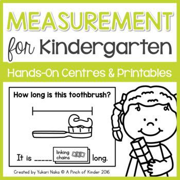 Measurement for Kindergarten: Hands-On Centres & Printables