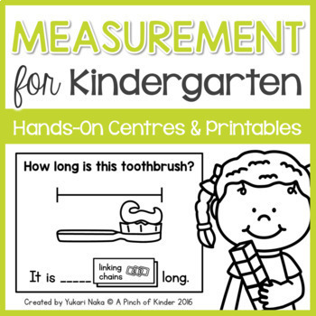 Measurement for Kindergarten: Hands-On Centres & Printables