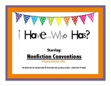 FREE Nonfiction Conventions - I have...Who Has Game