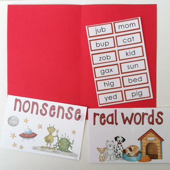 FREE! Nonsense Words / Real Words Sorting Activity - reading fluency DIBELS prep