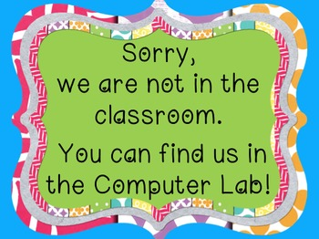 *FREE* ~ Back to School - 'Not in the classroom! You can find us..' Poster