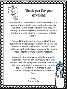 {FREE} Note-Taking Sheets for Upper Elementary & Middle School Students