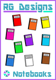 FREE Notebook Back to School Clip Art- 10 colors