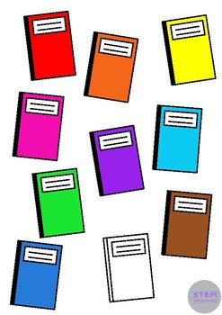 Notebook Back to School School Supplies Clip Art Illustrations FREE