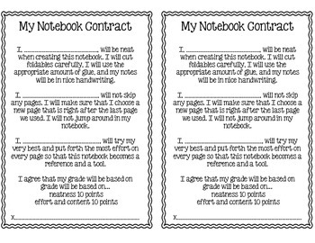 FREE Notebook Contract