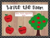 Noun, Verb, Adjective Sort (apple picking write the room)