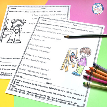 Nouns and Verbs Identification Practice | FREE Printable Worksheets