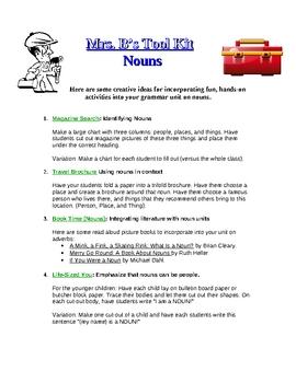 FREE: Nouns- Creative Teaching Ideas!