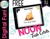 FREE Nouns Digital Task Cards for Kindergarten Distance Le