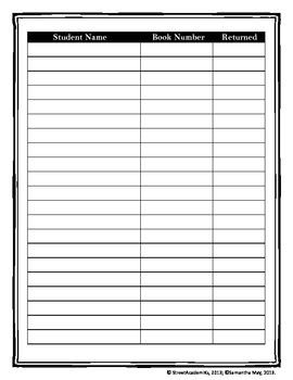 {FREE} Novel Sign Out Sheet