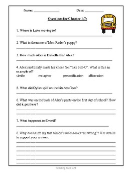 FREE Novel Study Guide- The New Kid
