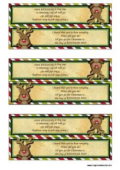 FREE Novelty Reindeer Poo Lolly Bag Topper