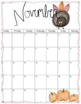 FREE November 2016 Calendar Printable Download