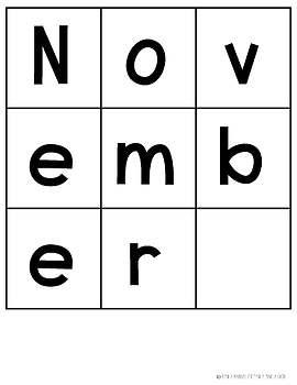 FREE November Word Work Centers