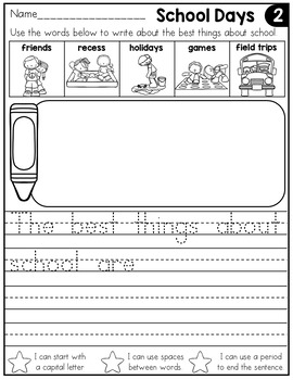 Kindergarten writing