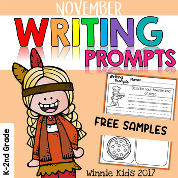 FREE November Writing and Picture Prompts