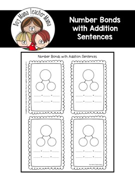 FREE Number Bonds with Addition Sentences