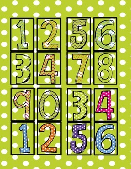 FREE Number Cards