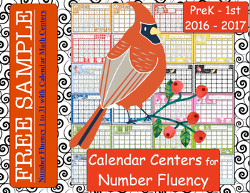 FREE Number Fluency 1 to 31 with Calendar Math Centers SEPTEMBER