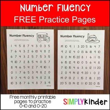 FREE Number Fluency