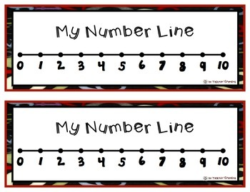 FREE Number Line Math Tool for Students - 2 per page