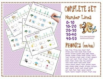 FREE Number Line Phonics (10-20)