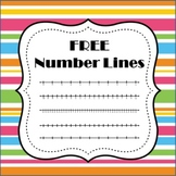 FREE Number Lines