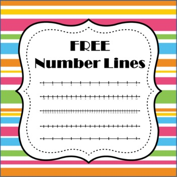 free number lines by bayside math teacher teachers pay teachers
