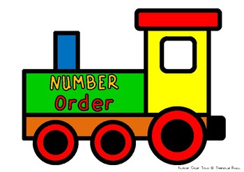FREE Number Order - Train Theme
