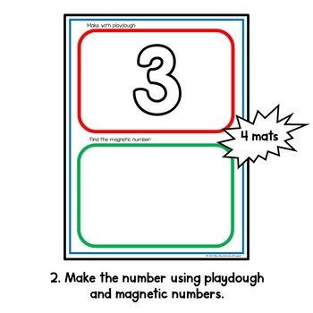 FREE Number Recognition Playdough Mats