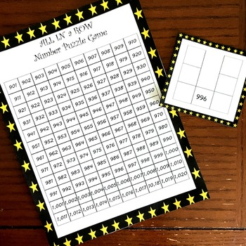 Number Puzzle Games with Boards from 100 to 900!