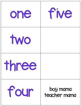 FREE Number Recognition Games