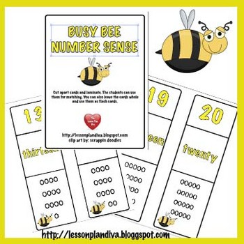 FREE -Number Sense Busy Bee!