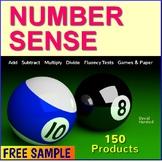 """FREE - Number Sense Game """"Bingo"""""""
