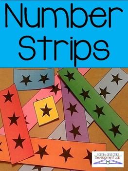 FREE! Number Strips 0-5 (Printable Math Manipulatives)