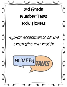 FREE Number Talks Exit Tickets