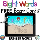 FREE Number Words Digital Sight Word Boom Cards Distance L