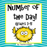 FREE Number of the Day Grades 3-5
