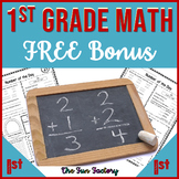 FREE First Grade Number of the Day PRINT and GO